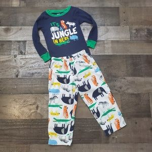 Fleece PJ Long Sleeve Carter's Jungle Animal